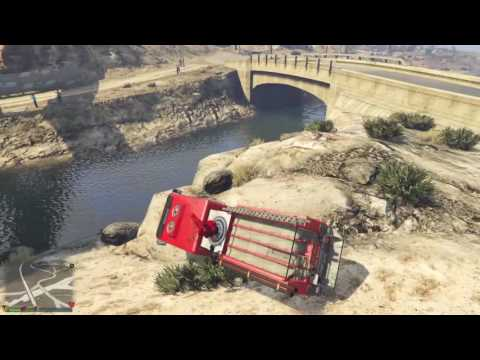 GTA V - PS4 Online - flying firetruck