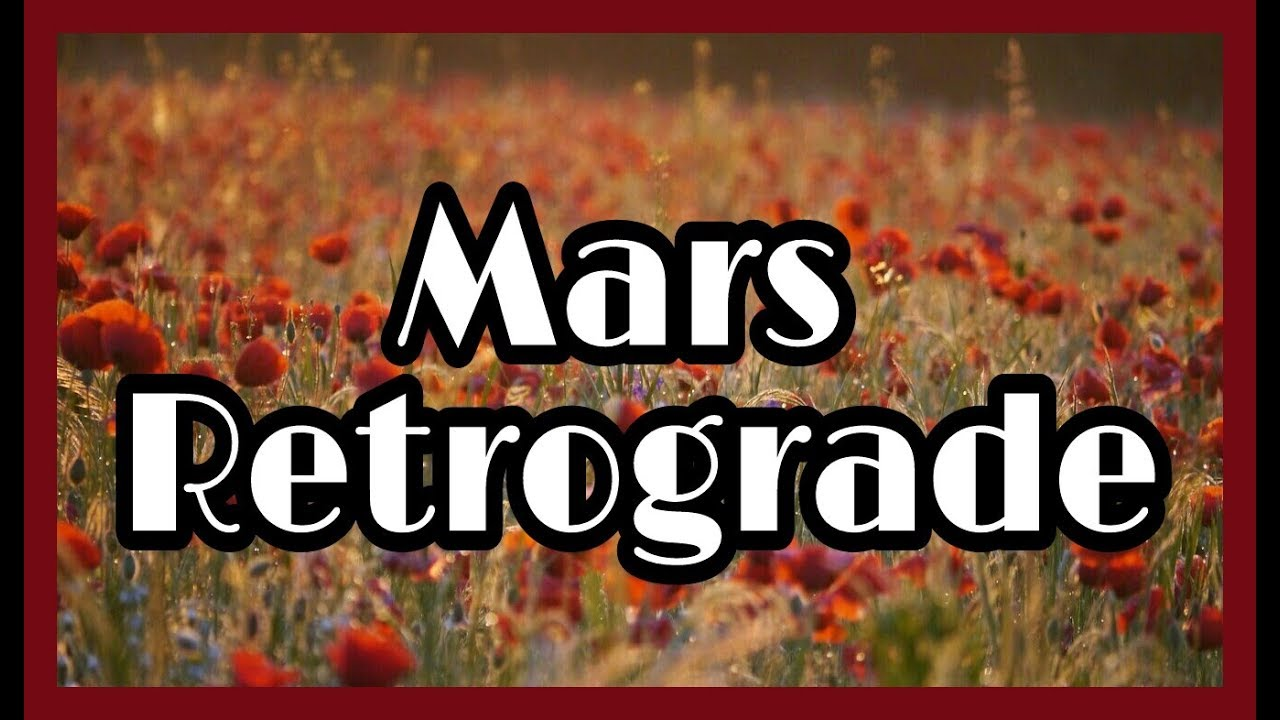 Mars Retrograde In The Birth Chart Youre A Firework Youtube