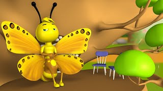 The Lazy Butterflies 3D Animated Hindi Moral Stories Kids Animals Tales