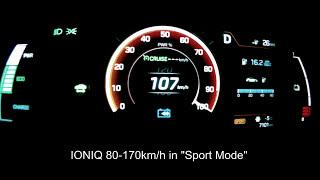 Hyundai IONIQ Electric Acceleration // 0-170 km/h