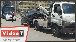 بالفيديو.. المرور ترفع السيارات من أمام مسجد السيدة زينب لهذا السبب