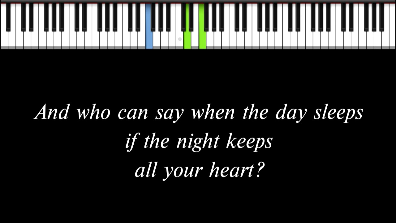 Enya Only Time Solo Piano Arrangement