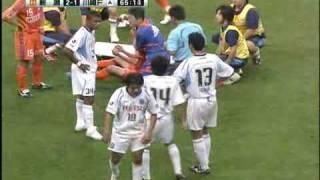 新潟vs川崎 森 ひじ打ちで一発レッド