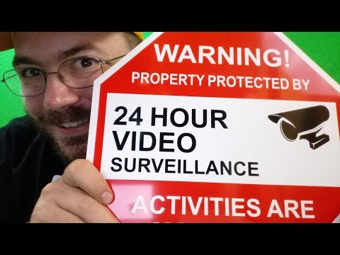 Video Surveillance Warning Sign From Aluminum 12X12 And 2 Under Video Surveillance Camera Stickers S
