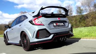 Honda Civic type R FK8 with REMUS cat-back system