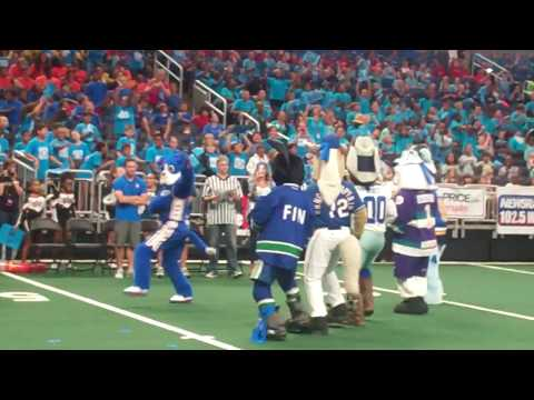 Blue Team Dance at Mascot Games in Orlando June 2017