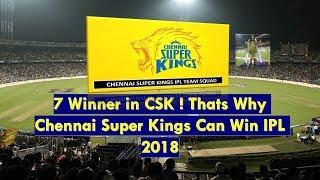 CSK IPL 2018 -WINNER ! CSK  PLAYER AUCTION 2018 ! 7 MATCH WINNER  IN CSK ! THATS WHY WIN IPL 2018 !