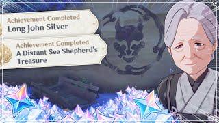 Long John Silver \\u0026 A Distant Sea Shepherd\x27s Treasure Genshin Impact Secret Achievement Hidden Quest