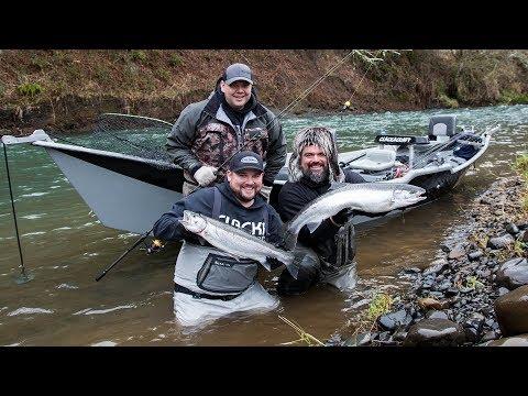 Oregon Coast Snow Storm Steelhead Fishing