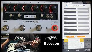 mooer PREAMP LIVE how to use application Played by kono(te')