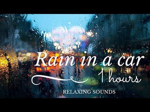 Rain in a car ~ Relaxing sounds for sleeping