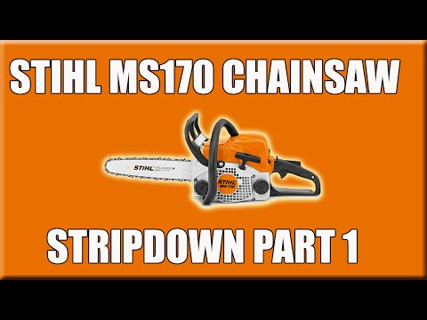 Part 1 Stihl MS170 Chainsaw Stripdown Oil Feed Fuel Tank Clutch Carb Flywheel Removing How To