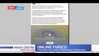 Congratulatory Message from President Uhuru to President Museveni flagged down by Facebook
