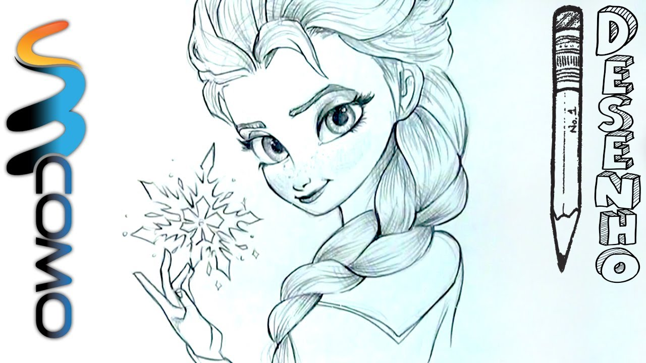 Desenhando Elsa Do Filme Frozen