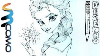 Desenhando Elsa do Filme Frozen - Uma Aventura Congelante