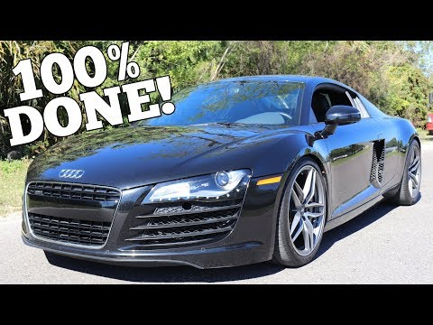 My Salvage Auction Audi R8 is Completely Rebuilt! Time for its First Real Drive!