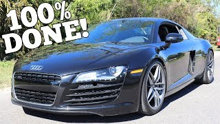 My Salvage Auction Audi R8 is Completely Rebuilt! Time for it's First Real Drive!