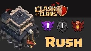 Clash Of Clans Meilleur Hdv 9 Guerre De Clan Avec 4 Mortier / Best TH9 4 Mortars Clan War Base