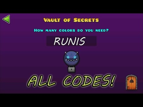 Geometry Dash WORLD :The Vault Of Secrets - ALL SECRET CODES!! / TODOS LOS CÓDIGOS