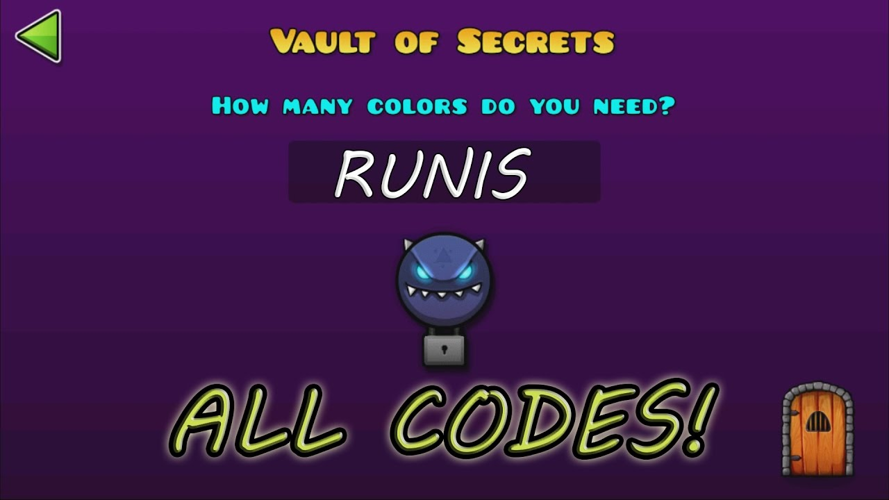 geometry dash world the vault of secrets all secret