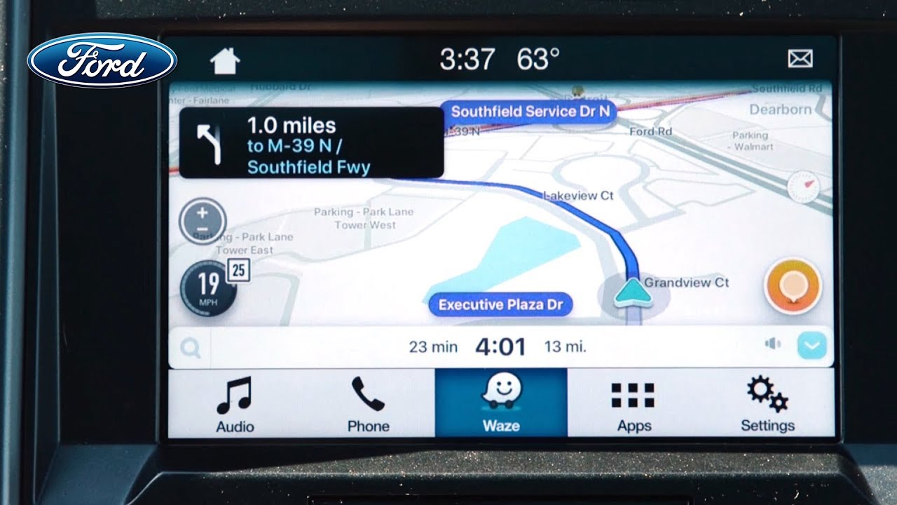 ford adds waze app on sync 3 youtube. Black Bedroom Furniture Sets. Home Design Ideas