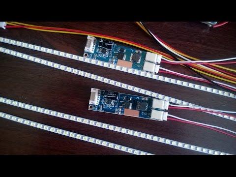 видео: Светодиодная подсветка для монитора как быстро проверить
