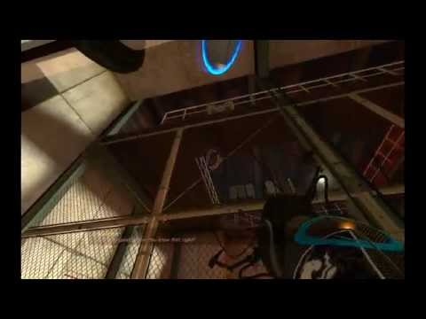 Portal - Killing GLaDOS with your companion cube (saving the cube)