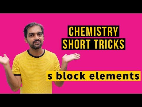 s block elements short tricks   Chemistry class 11