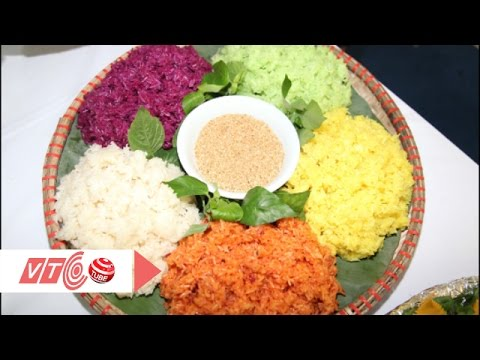Cách nấu xôi ngũ sắc lên màu thơm ngon | VTC