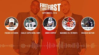 First Things First Audio Podcast(9.03.19) Cris Carter, Nick Wright, Jenna Wolfe | FIRST THINGS FIRST