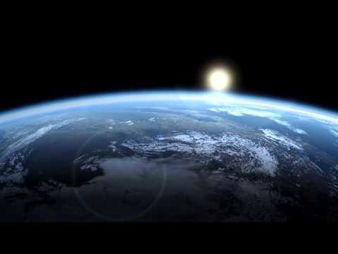 30 Minute Relaxing Space Journey | Enjoy Blissful Piano & Rain Sounds whilst Soaring over the Earth