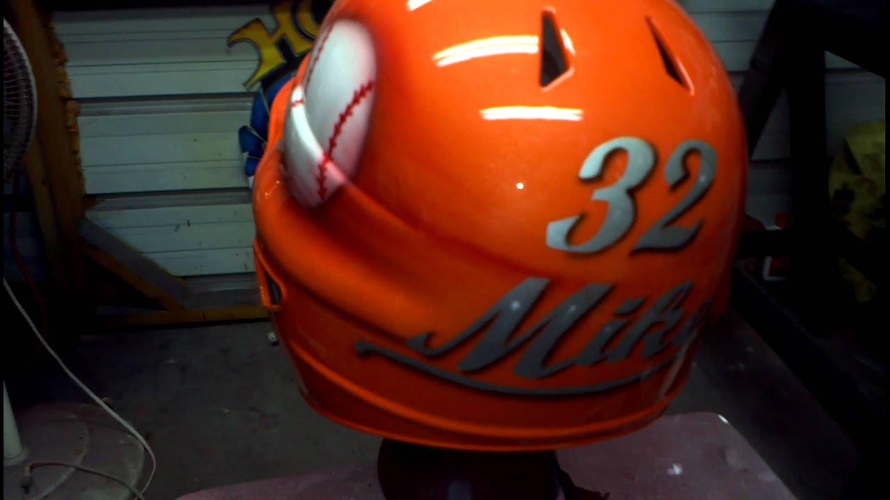 Airbrushed Baseball Helmet Youtube
