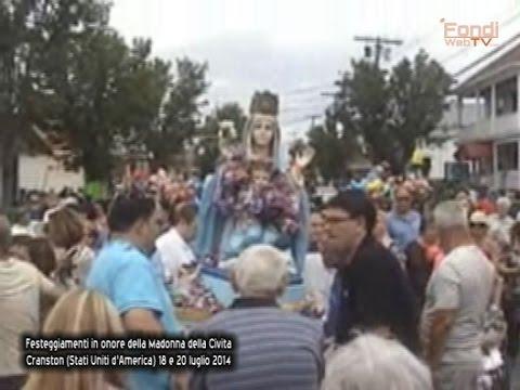 Itrani a Cranston in U.S.A. Festeggiamenti in onore della Madonna della Civita 2014