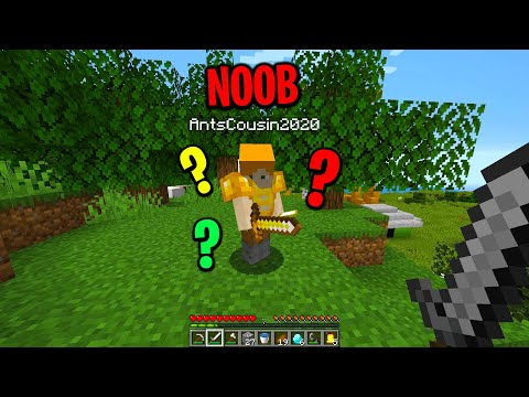 teaching a minecraft noob how to play minecraft