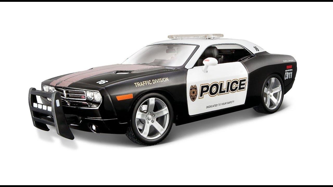 Challenger Police 118 Concept Échelle Diecast Voiture De Modèle Dodge Jouet WEH29DI