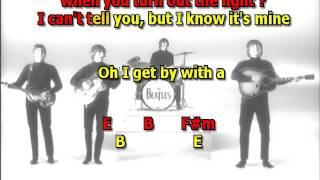 With A Little Help From My Friends Beatles best karaoke instrumental lyrics chords