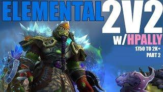 🍃 2v2 ARENA - Elemental Shaman PvP - THROWN IN THE AIR (WoW Legion 7.3.2)