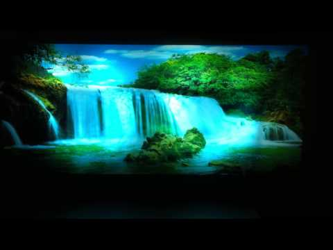 Moving Picture in Motion,Mirror Framed ,Waterfall Picture With light & sound