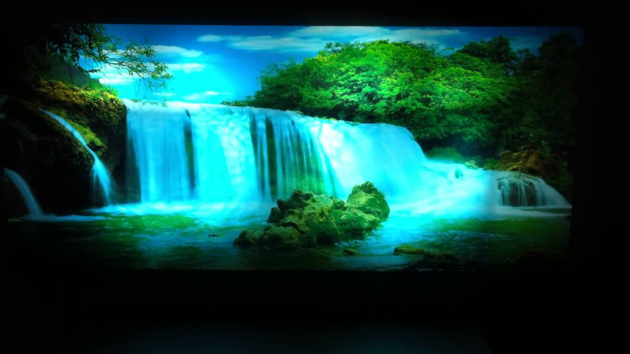 Free Wallpaper Fall Scenes Moving Picture In Motion Mirror Framed Waterfall Picture
