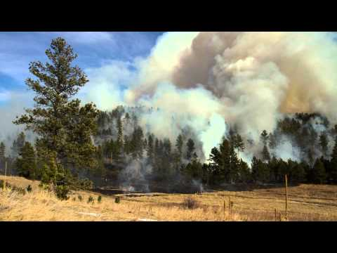 Time-lapse of a prescribed fire, Black Hills of South Dakota