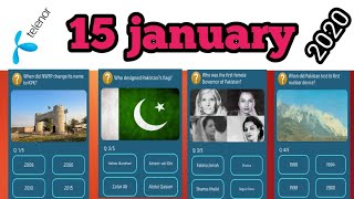 15 january 2020 Question and Answer/My telenor app today Questions/play and win screenshot 2