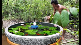 How to Build A Beautiful Waterfall Aquarium Very Easy | For Your Family Garden