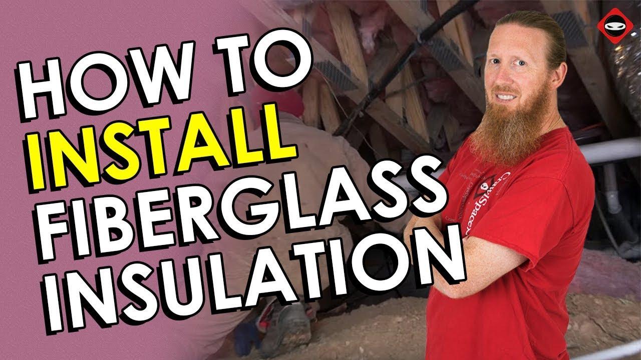 Crawl Space Insulation Diy How Install Fiberglass Insulate