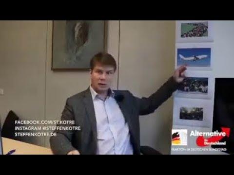 Regierung lässt Flüchtlinge einfliegen. Steffen Kotré AfD 07.11.2019