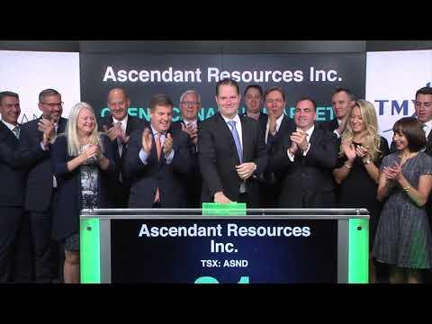 Ascendant Resources Inc. opens Toronto Stock Exchange, October 16, 2017