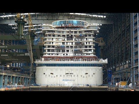 AIDAnova | short view into the construction dock at shipyard MEYER WERFT | 4K-Quality-Video