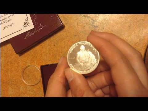 1732-1982 Commemorative George Washington Half Dollar S 90% Silver
