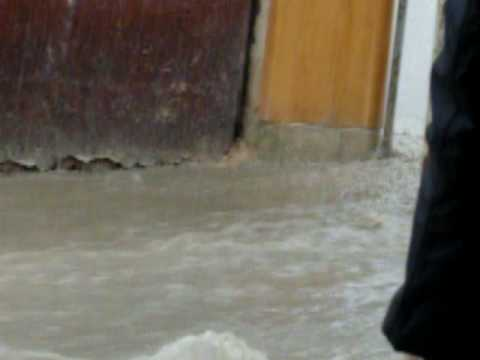 water flooding the streets of Fes