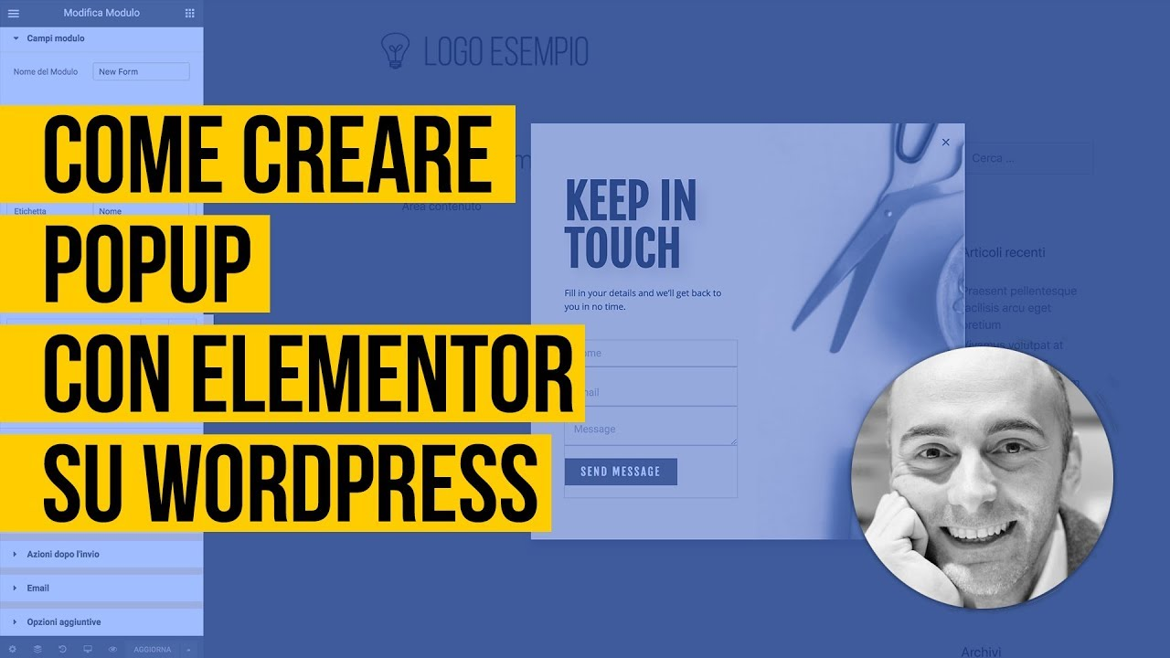 Come creare PopUp con Elementor su WordPress