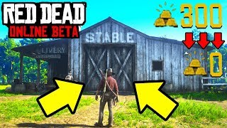 GOLD BAR GLITCH LOST ME 300 GOLD IN RDR2 ONLINE!